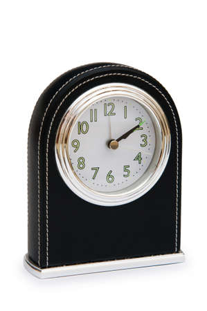 Table clock isolated on the white background Stock Photo - 7314226