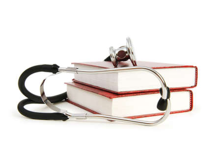 Concept of medical education with book and stethoscope Stock Photo - 7348995