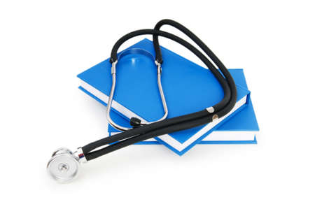 Concept of medical education with book and stethoscope Stock Photo - 7348989