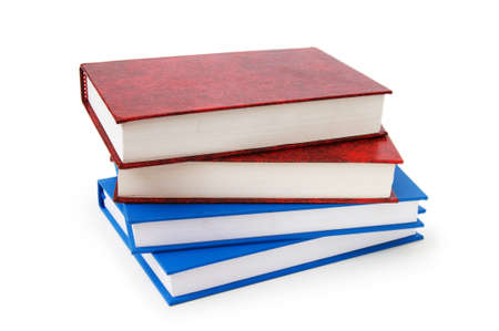 Stack of books isolated on the white background Stock Photo - 7349124