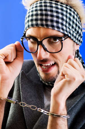 Man with glasses in studio shooting Stock Photo - 7355871
