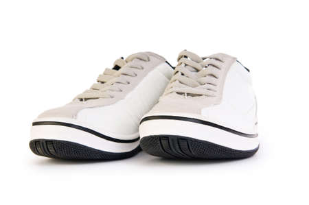Sporty shoes isolated on the white background photo