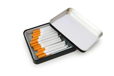 Smoking cigarettes isolated on the white background photo