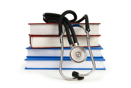 Concept of medical education with book and stethoscope Stock Photo - 7396505