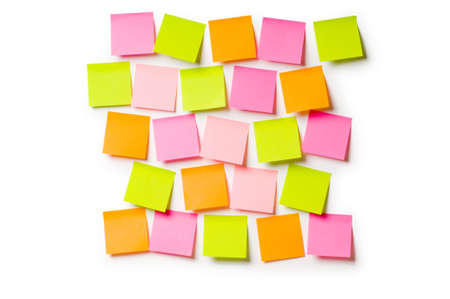 post it notes: Reminder notes isolated on the white background