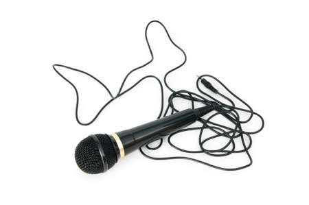 Audio microphone isolated on the white background Stock Photo - 7444005
