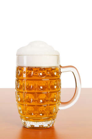 Beer glass isolated on the white background photo