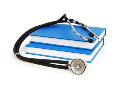 Concept of medical education with book and stethoscope Stock Photo - 7518024