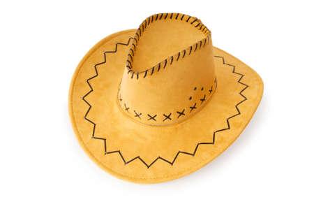 Cowboy hat isolated on the white background photo