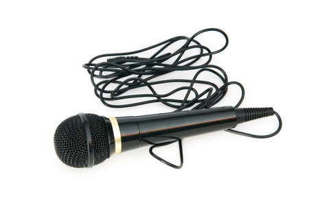 Audio microphone isolated on the white background Stock Photo - 7518099