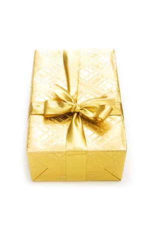 Gift box isolated on the white background Stock Photo - 7518421