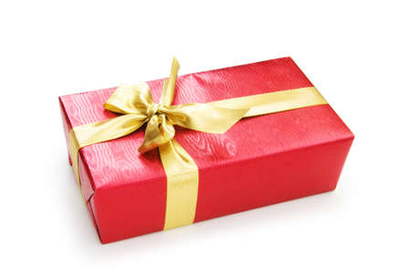 Gift box isolated on the white background Stock Photo - 7518426
