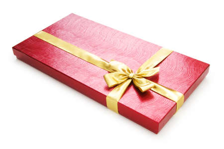 Gift box isolated on the white background Stock Photo - 7546360