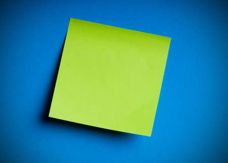 post office: Reminder notes on the bright colorful paper