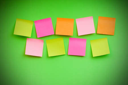 Reminder notes on the bright colorful paper Stock Photo - 7546456