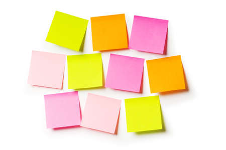 post it note: Reminder notes isolated on the white background