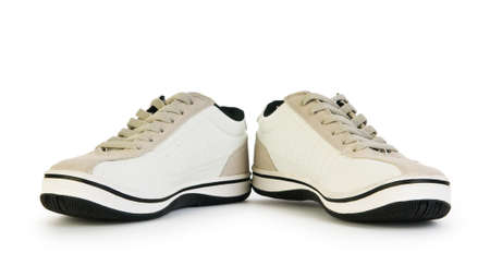 footgear: Sporty shoes isolated on the white background