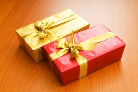 Gift box isolated on the white background Stock Photo - 7597688