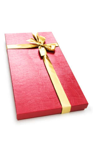 Gift box isolated on the white background Stock Photo - 7597584