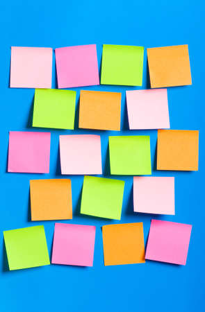 Reminder notes on the bright colorful paper Stock Photo - 7602335