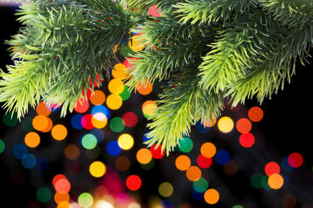Christmas decoration and blurred lights at background Stock Photo - 7602398