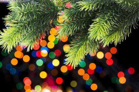 luz roja: Decoraci�n de Navidad y luces borrosas en segundo plano