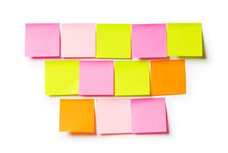 Reminder notes isolated on the white background Stock Photo - 7633626
