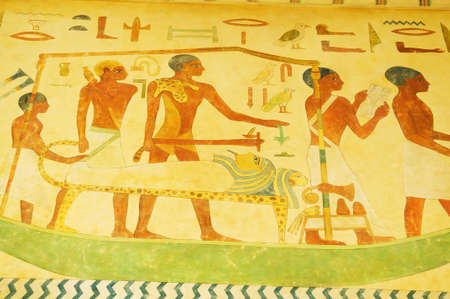 Egyptian concept with paintings on the wall Stock Photo - 7634229