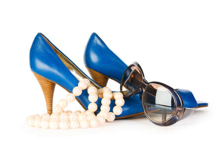 opentoe: Woman accessories isolated on the white background