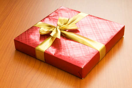 Gift box isolated on the white background Stock Photo - 7634245