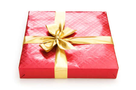 Gift box isolated on the white background Stock Photo - 7634235