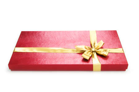 Gift box isolated on the white background Stock Photo - 7634698
