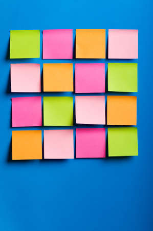 Reminder notes on the bright colorful paper Stock Photo - 7634720