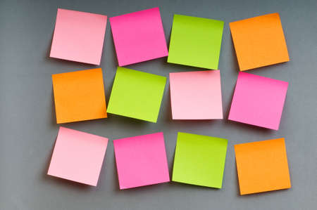 Reminder notes on the bright colorful paper Stock Photo - 7634893