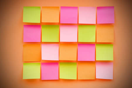 Reminder notes on the bright colorful paper Stock Photo - 7634853
