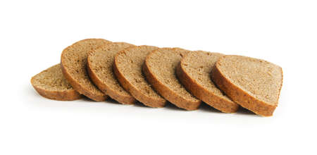 Sliced bread isolated on the white background photo