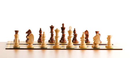 checkmate: Set of chess figures on the playing board  Stock Photo