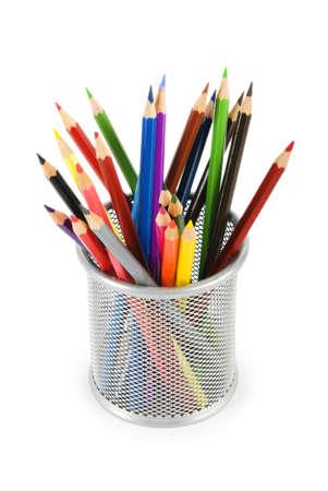 color�: Divers isol�s sur le blanc de crayons de couleur