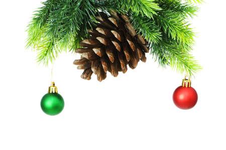 Weihnachtsdekoration auf dem Baum  Standard-Bild