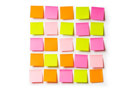 sticky: Reminder notes isolated on the white background