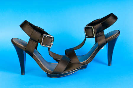 open toe: Fashion concept with open toe woman shoes