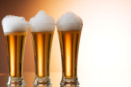 unbottled: Beer glasses against the colorful gradient background