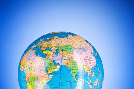 Globalisation concept - globe against gradient colorful background Stock Photo - 7666111