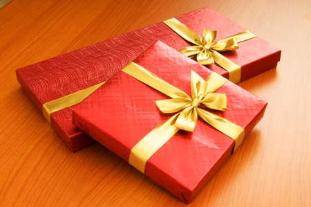 Gift box isolated on the white background Stock Photo - 7666167