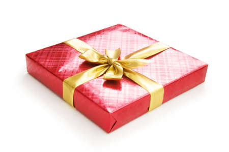 Gift box isolated on the white background Stock Photo - 7664803