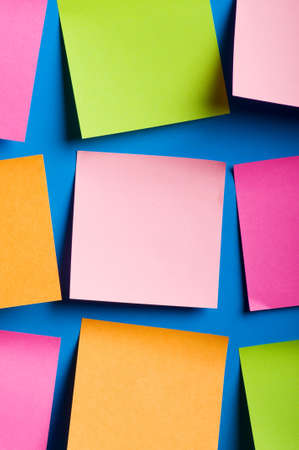 Reminder notes on the bright colorful paper Stock Photo - 7664905