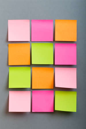notes: Reminder notes on the bright colorful paper