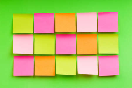 Reminder notes on the bright colorful paper photo