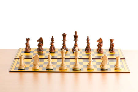 Set of chess figures on the playing board Stock Photo - 7664468