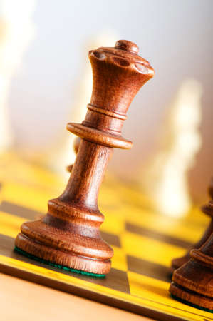 piecies: Set of chess figures on the playing board  Stock Photo